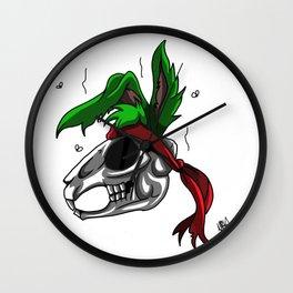 Jazz Jackrabbit skull Wall Clock