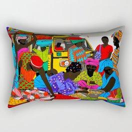 african market 1 Rectangular Pillow