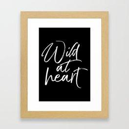 Wild At Heart V2 Framed Art Print