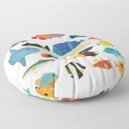 Tropical Fish chart Floor Pillow
