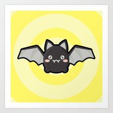 Kawaii Bat Art Print
