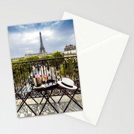 Eiffel Tower Paris Balcony View Stationery Cards