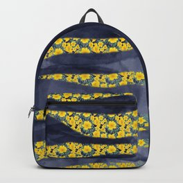 Abstracts and florals - precious indigo Backpack