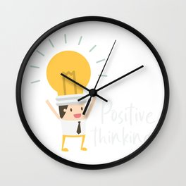 Positive Thinking Motivation Coach Wall Clock