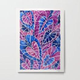 Schismatoglottis Calyptrata – Indigo Palette Metal Print
