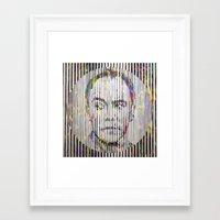 dave matthews Framed Art Prints featuring Dave by Sean Christopher Ward