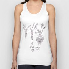 Eat more vegetables Unisex Tank Top