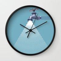 waterfall Wall Clocks featuring Waterfall by Shkvarok