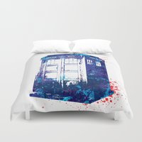 tardis Duvet Covers featuring Tardis by lauramaahs