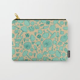 Fungi V2 Vintage Mushroom Pattern Carry-All Pouch