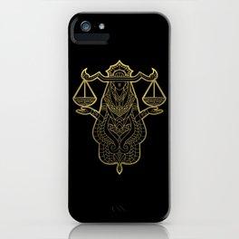 Libra Gold iPhone Case