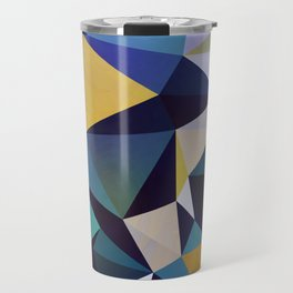 Abstract Geometric Triangle Pattern Travel Mug
