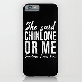 Chinlone funny sports gift idea iPhone Case