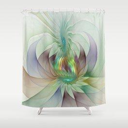 Colorful Shapes, Modern Fractals Art Shower Curtain