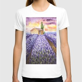 Lavenders Field in the Late Afternoon T-shirt