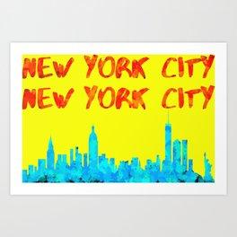 New York City Pop Art Art Print