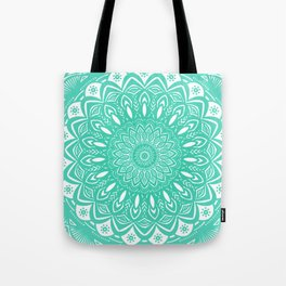 Minimal Aqua Seafoam Mint Green Mandala Simple Minimalistic Tote Bag