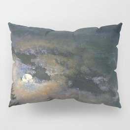 Johan-Christian-Clausen Dahl - A Cloud and Landscape Study by Moonlight Pillow Sham