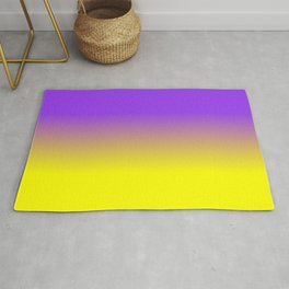 Neon Purple and Neon Yellow Ombré  Shade Color Fade Rug