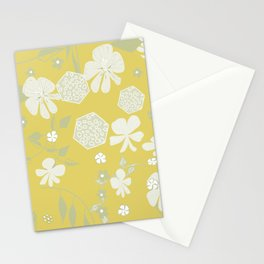 Nasturtium Frolic : Gold. Stationery Cards