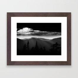 Low Key Sunset Framed Art Print
