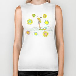 Surf Art Hang 10 Lady Slide Flower Power by Surfy Birdy Biker Tank