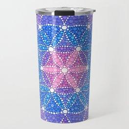 Starry Flower of Life Travel Mug