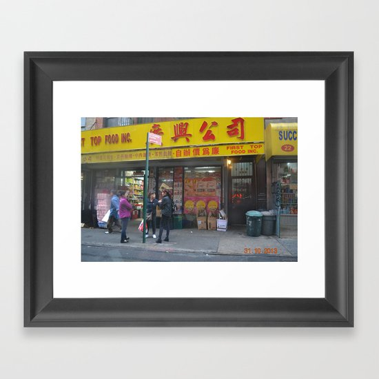 Chinatown Ladies Framed Art Print
