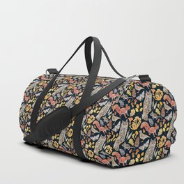 Autumn Wildlife Pattern - Dark Duffle Bag