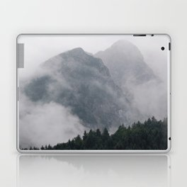 Minimalist Modern Photography Landscape Pine Forest Jagged High Grey Mountains Laptop & iPad Skin