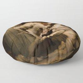 Vivid Retro - Dante and Virgil Floor Pillow