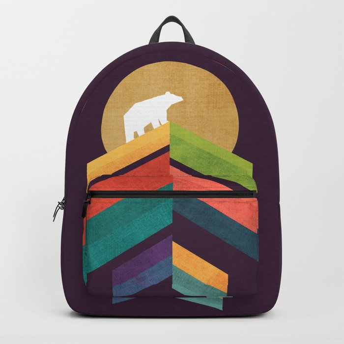 Lingering mountain with golden moon Backpack