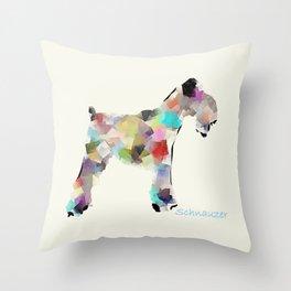 Schnauzer modern Throw Pillow