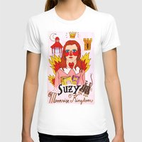 mercedes T-shirts featuring Moonrise Kingdom Suzy by Ricardo Cavolo