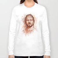 eddie vedder Long Sleeve T-shirts featuring Eddie Vedder by Renato Cunha
