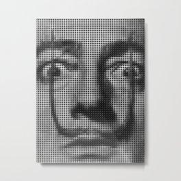 Portrait Salvador Dali Metal Print