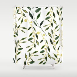 Goldy Green Shower Curtain