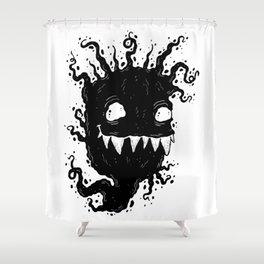 Ink Ghostie VII Shower Curtain