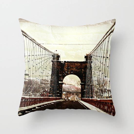 The End Of Suspension Throw Pillow