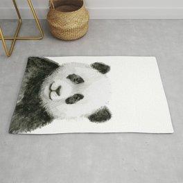 Baby Panda Watercolor Rug