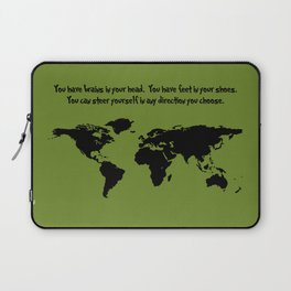 World Map with Dr. Seuss Quote Laptop Sleeve