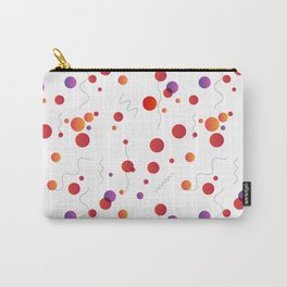 Abstract seamless pattern with circles and lines Carry-All Pouch