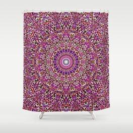 Colorful Girly Lace Garden Mandala Shower Curtain