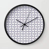 anchors Wall Clocks featuring Anchors by AleDan