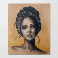 victorian Canvas Prints featuring Victorian by E.Inez Art