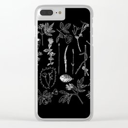 Nature Botanical Drawings by young kid artists, profits are donated to The Ivy Montessori School Clear iPhone Case