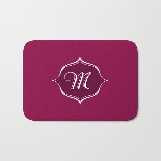 M Monogram Burgundy Bath Mat
