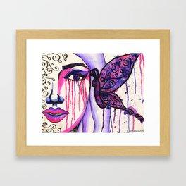 Butterfly Kiss Framed Art Print