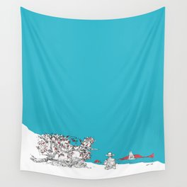 New Year Eve at the beach, New Zealand Wall Tapestry