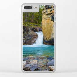 Bottom of Beauty Creek Canyon in Jasper National Park, Canada Clear iPhone Case